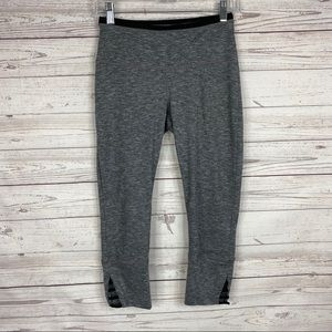 PrAna gray and black Tori capri leggings